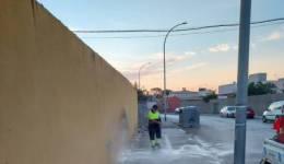 Los trabajos de desinfección de Limpieza en La Línea se han desarrollado en la zona centro y Los Junquillos
