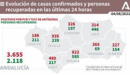 Coronavirus Andalucía : 1.336 pacientes confirmados con COVID-19 permanecen ingresados en los hospitales andaluces, de los que 238 se encuentran en UCI