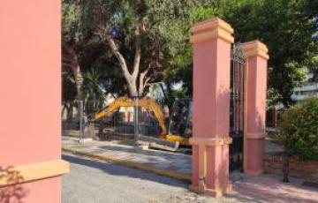 Iniciados los trabajos previos de movimientos de tierras para la obra de rehabilitación integral de los jardines Saccone