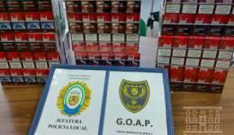 El GOAP de la Policía Local de Los Barrios se incauta de 750 cajetillas de tabaco de contrabando en Palmones